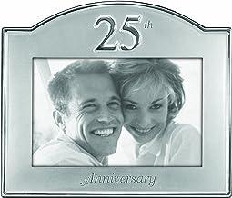 إطار صور معدني للذكرى الخامسة والعشرين من تصميمات مالدن إنترناشيونال ديزاينز، مقاس 10.16 سم × 15