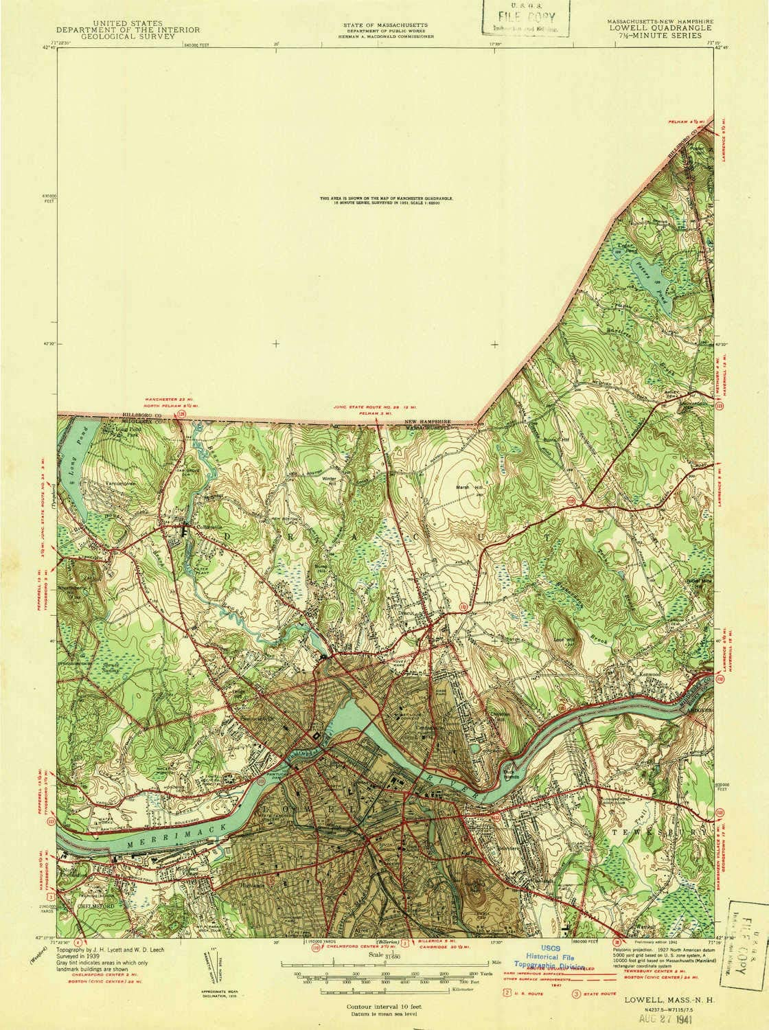 Lowell MA topo map 1:31680 X Challenge the lowest price of Japan ☆ Scale At the price Historical 7.5 Minute