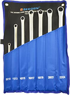 Extra Long Double Ended Ring Spanner Aviation Wrench 8mm - 24mm 7pc Set