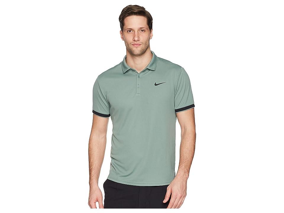 Nike Court Dry Tennis Polo (Clay Green/Black/Black) Men