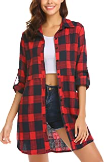 red flannel shirt dress