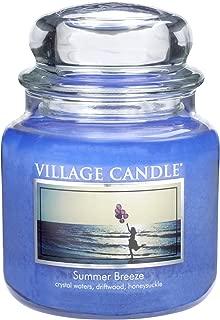 Village Candle Summer Breeze 16 oz Glass Jar Scented Candle, Medium