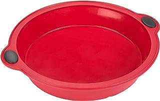 Levivo Molde de Horno de Silicona para Tarta, Rojo, 200x53mm