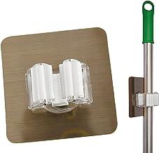 Home-X Broom and Mop Holder, Self-Adhesive, No Drilling, Anti-Slip, Wall Mounted Storage Rack, Home Organization-Space-Sav...