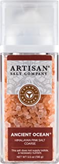 SaltWorks Ancient Ocean Himalayan Pink Salt, Coarse, Artisan Grinder Jar