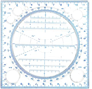 Buhui Multifunzionale Disegno Righello Multiuso Disegnare Curva Rotonda Orizzontale Linea Parallela Verticale Linea Parallela