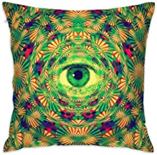 Freestyle28 Weird Trippy Desktop Wallpaper Style Decorative Home Pillow Covers Square 18x18 Inch (Insert Not Include)