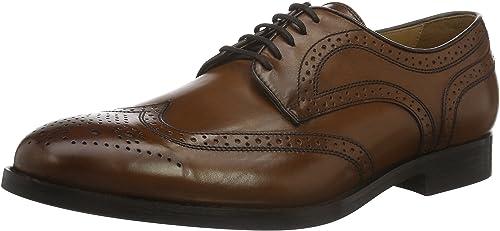 Geox U Hampstead D, zapatos de Cordones Brogue para Hombre