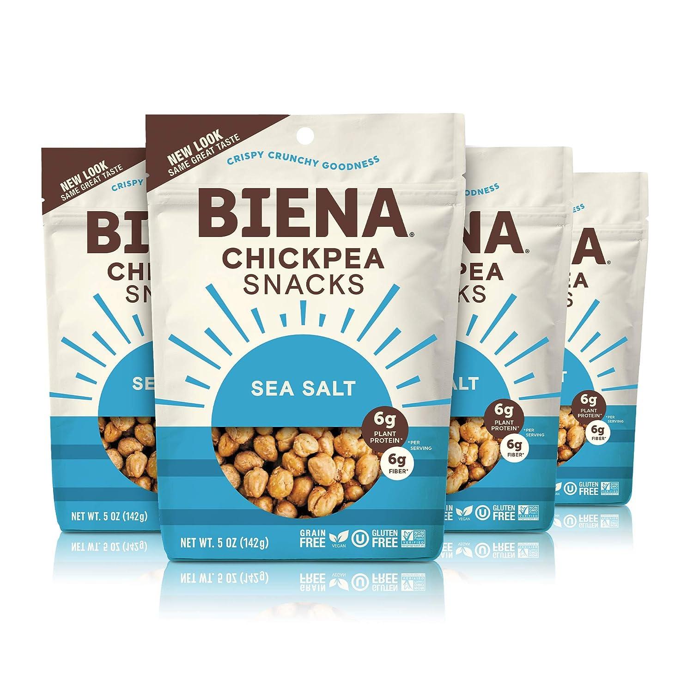 Portland Mall BIENA Chickpea Sale Snacks Sea Salt Vegan Pack 4 Free Gluten