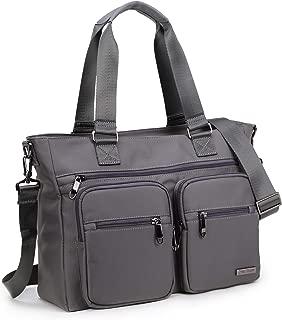 Crest Design Water Repellent Nylon Shoulder Bag Handbag Tablet Laptop Tote as Travel Work and School Bag. Perfect Nursing Tote to Carry Medical, Nursing Supplies (Grey)