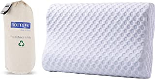 Dormyo Flex Queen; Contour Cervical Memory Foam Pillow; Removable Premium Cover with Zipper; (Queen Size with Premium Wash...