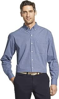 Men's Button Down Long Sleeve Stretch Performance Check Shirt
