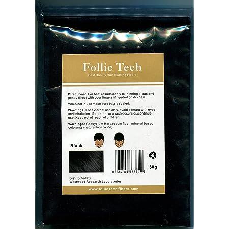 Follic Tech Hair Building Fibers 57 Grams Highest Grade Refill