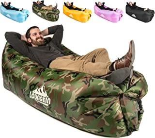 KyRush It Inflatable Lounger air Couch Chair Sofa Pouch | Lazy Hammock Blow up Bag | Lounge Outdoor at The Beach or Camping | Lay longers Chairs are The Best Outdoor Wind hammocks Around