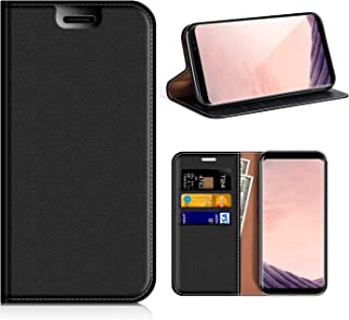 Samsung Galaxy S8 Wallet Case, Mobesv Samsung S8 Leather Case/Phone Flip Book Cover/Viewing Stand/Card Holder for Samsung Galaxy S8, Black