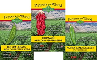 3 Pack - Green Chile Seeds - Big Jim, Chimayo & Sandia