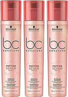 Peptide Repair Rescue Shampoo Bonacure Schwarzkopf Professional Micellar per capelli fini e normali, 250 ml = 750 ml