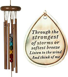 Memorial Wind Chime Copper Sympathy Chakra Metal Teardrop Through the Strongest of Storms Rainbow Gift by Weathered Raindrop