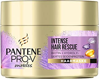 Pro-V Miracles Intense Hair Rescue Haarmaske, Mit Biotin & Hydrolysiertem Seidenprotein, Für Strohiges, Blondiertes Oder G...