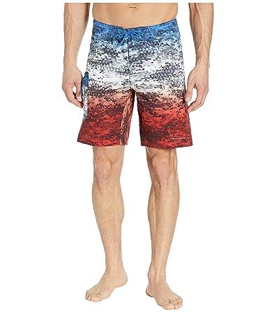 Columbia PFG Offshore II 9 inch Board Shorts (Americana Digi Camo Fade) Men