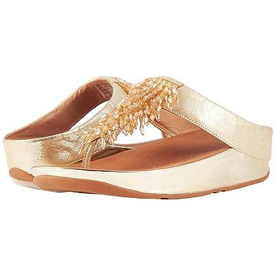 FitFlop Rumba Toe Thong Sandals (Metallic Gold) Women