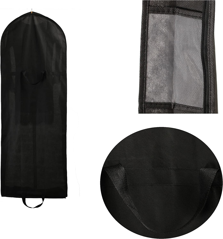 TUKA Transpirable Bolsa de Ropa 149 cm 2 Bolsillos para Accesorios Rojo Oscuro Trajes Abrigos para Vestidos de Fiesta TKB1007 Darkred con Cremallera de Calidad Aprox