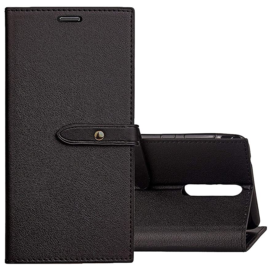 競争力のある戦争酸度KMLP ノキア8ビジネススタイルレザーケースホルダー&カードスロット&財布(ブラック) KMLPカバー (Color : Black)