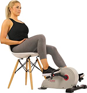 Sunny Health & Fitness Magnetic Mini Exercise Bike with Digital Monitor, Low Profile..