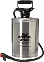 B & G Equipment 12012500 Stainless Steel Industrial Sprayer, 2 gals, Adjustable and Fan Tip, 12