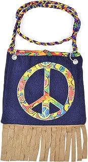 Bristol Novelty Peace Symbol Hippie Handbag