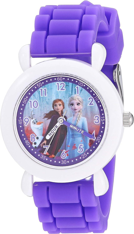 5 ☆ very popular Disney Girls' Frozen 2 Analog Los Angeles Mall Quartz Watch Silicone with Strap