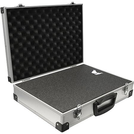 PeakTech 7270 – Estuche universal para dispositivos de medición, robusto, almacenamiento de herramientas, relleno de espuma, con cerradura, protección contra el polvo, XXL - 500 x 350 x 120 mm