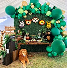 Jungle Safari Theme Party Supplies, 110 PCS Balloon Garland Kit, Favors for Kids Boys Birthday Baby Shower Decor, Balloons for Parties, Christmas Party Birthday Balloons Decorations