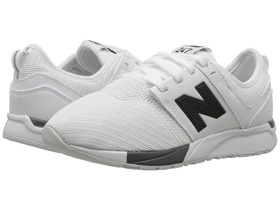 New Balance Kids KL247v1P (Little Kid) (White/Black) Boys Shoes