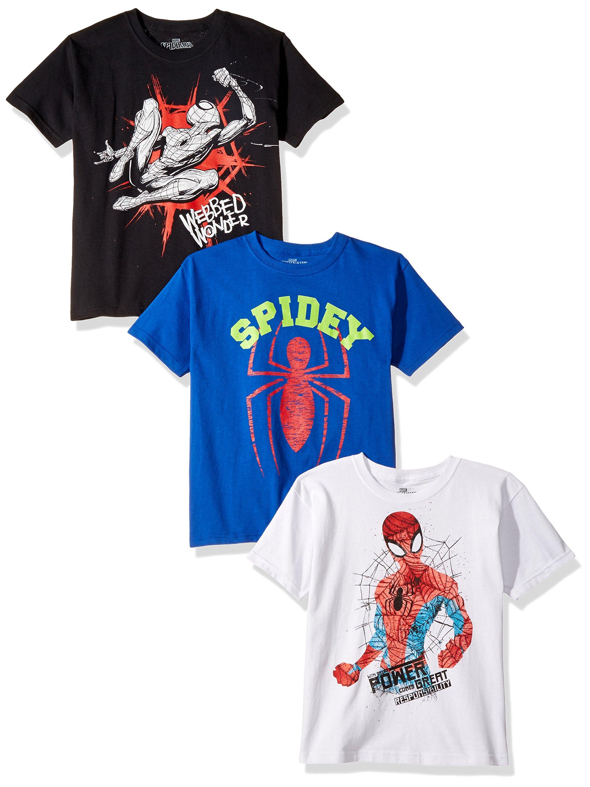 マーベルボーイスパイダーマン3ピース半袖Tシャツ