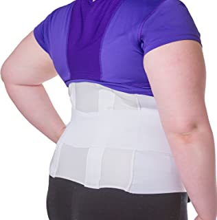 BraceAbility Plus Size 2XL Bariatric Back Brace | XXL Big & Tall Lumbar Support Girdle for Obesity Lower Back Pain in Extra Large, Heavy or Overweight Men and Women (Fits 50