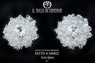 Orecchini da Sposa Kim - fatto a mano Made in Italy - Handmade - Regali donna - Artigianale - idee regali originali - rega...