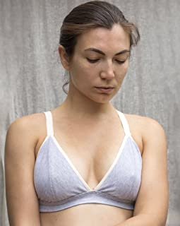 31f273a6b9 Organic Cotton Gray Bralette. Soft Wireless Bra. Comfortable Supportive  Bralette. Convertible Straps.