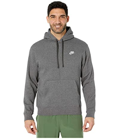 Nike NSW Club Hoodie Pullover (Charcoal Heather/Anthracite/White) Men