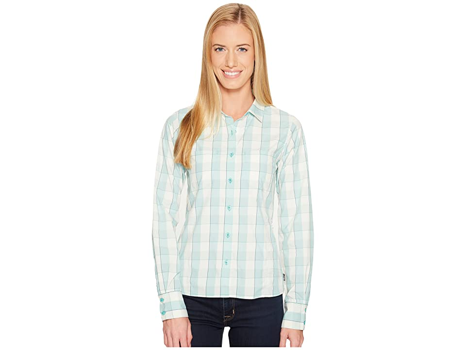 The North Face Long Sleeve Sunblocker Shirt (Agate Green Plaid (Prior Season)) Women