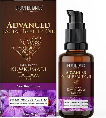 UrbanBotanics Kumkumadi Tailam for Glowing Skin - Kumkumadi Oil for Face - Brightening, Whitening, Ageing, Wrinkles, ...