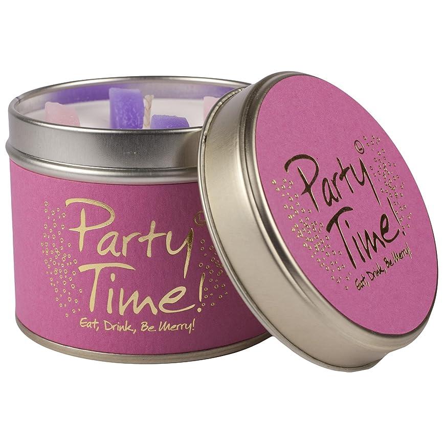 覆す画家ひねりユリ炎パーティーの時間香りのキャンドルスズ (Lily-Flame) - Lily-Flame Party Time Scented Candle Tin [並行輸入品]