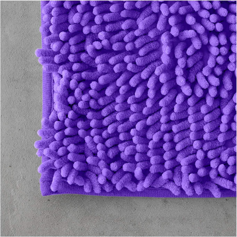 Super Soft Bathmats Machine Washable Water Absorbent FAIRWAYUK 2 Piece Non-Slip Bath Pedestal Mat Sets Natural Microfiber Bathroom Shaggy Rugs