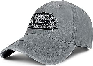Iuabsda Truck Driver Caps Sunshade for Men/Women's Baseball HatsFarmers-Insurance-Group-Farmers-Black-Logo- Retro Adjustable Hip Hop Dad Caps