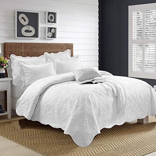 White Quilted Bedspread