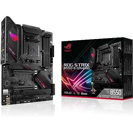 ASUS ROG Strix B550-E Gaming AMD AM4 3rd Gen Ryzen ATX Gaming Motherboard-PCIe 4.0, NVIDIA SLI, WiFi 6, 2.5Gb LAN, 14+2 Power Stages, USB 3.2 Type-C