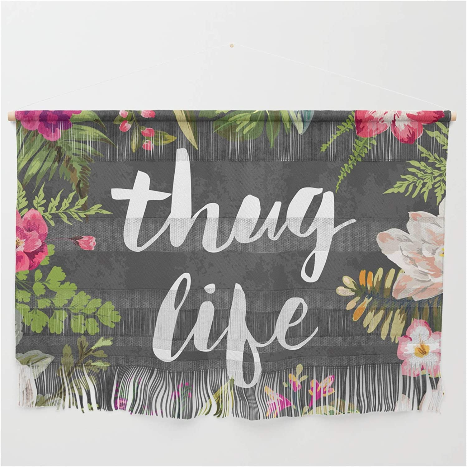 Society6 Thug Life by Text Guy Popular popular on Hanging Courier shipping free shipping 47