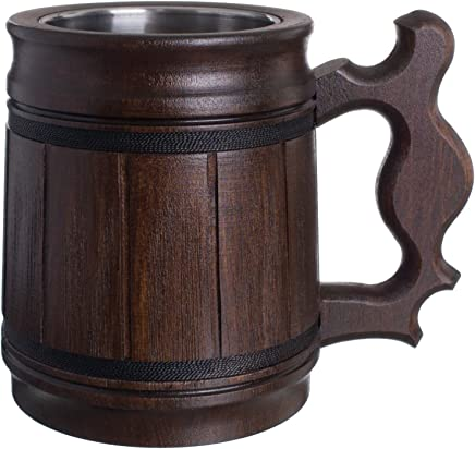 Amazoncom Wood Beer Mugs Steins Glassware Drinkware Home