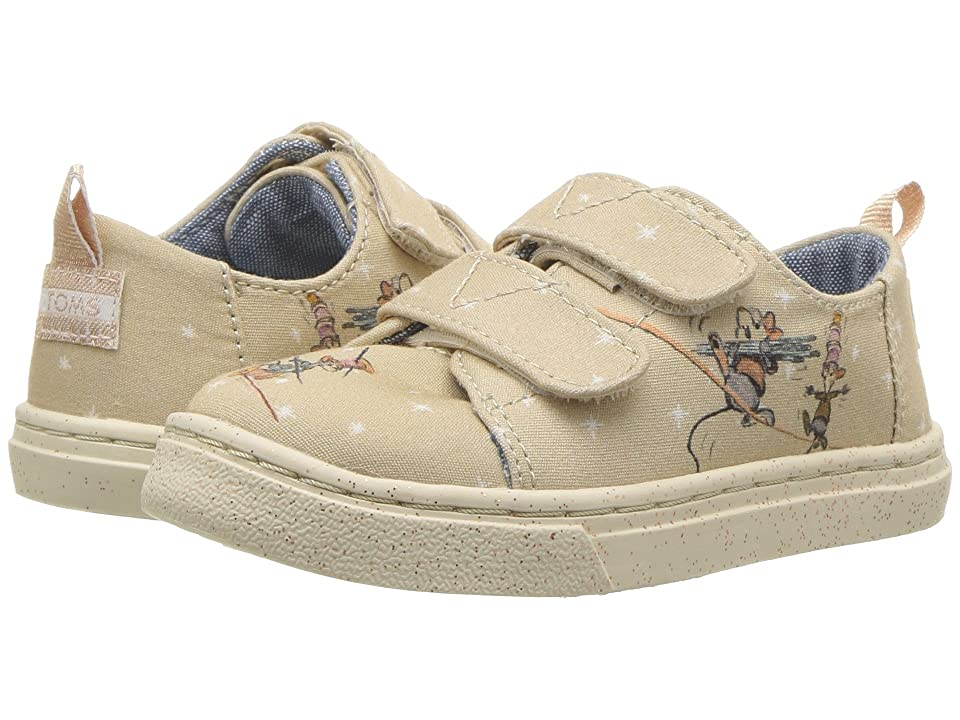 TOMS Kids Lenny Disney(r) Princesses (Infant/Toddler/Little Kid) (Taupe Gus & Jaq Printed Canvas) Girl