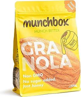 Munchbox Honey Almond Granola, 500 gm (Pack of 1)